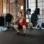 From front squat position to thruster