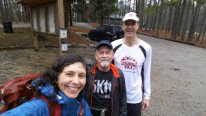 hiker and runners